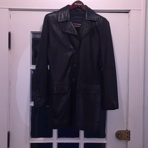 Banana Republic- Butter soft, black leather jacket